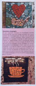 Artikel over mozaiek stoeptegel project in Utrecht